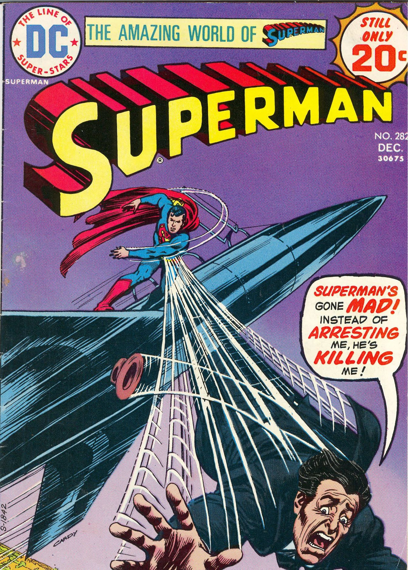 Crazy Comic Covers: Superman #282