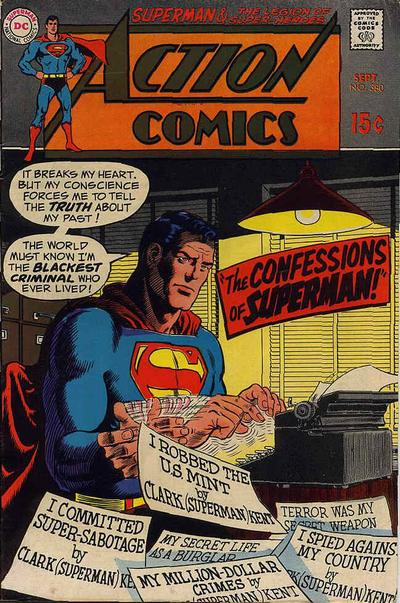 Superman must have one long rap sheet given all the crimes he has ever committed.