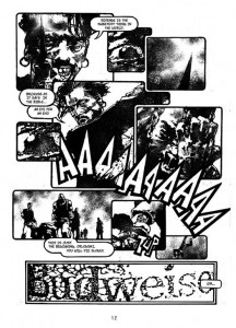 page from Zezelj's graphic novel Rex (Optimum Wound Publising.)