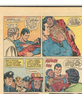 Apparently there's no such thing as a friction burn to Superman