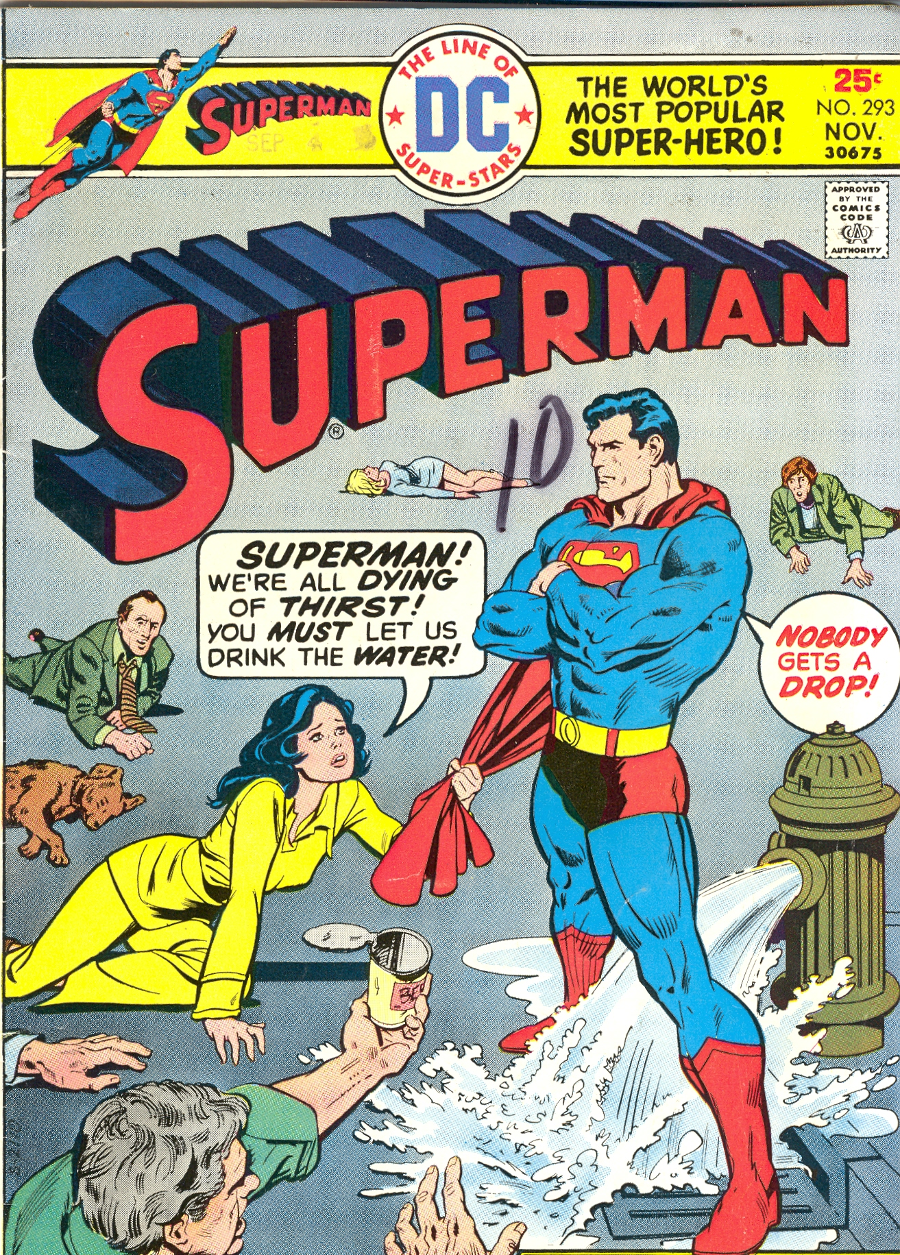 Crazy Comic Covers: Superman #293;The miracle of Thirsty Thursday