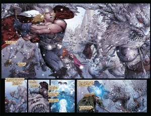 Thor vs. FROST GIANTS from Matt Fraction's EPIC Thor: Ages of Thunder!