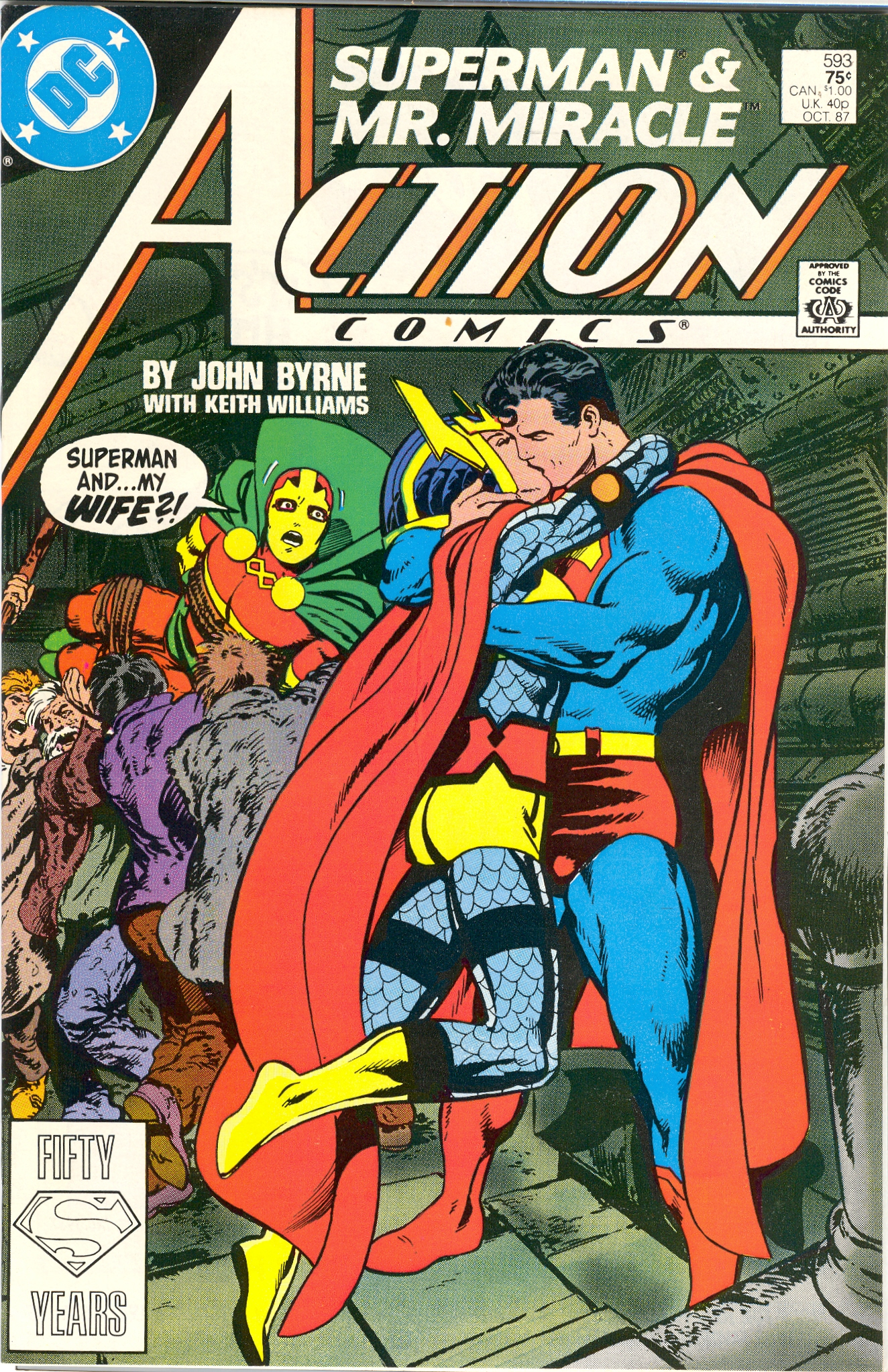 Crazy Comic Covers: Action Comics #593 The Suicide Snare