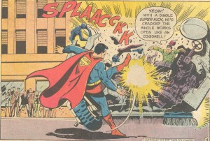 When Superman goes to the washroom, does he call it a Super-Leak or a Super-Dump?