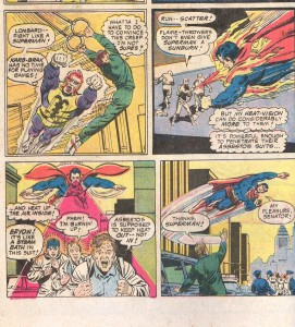 """Not shown: Superman's thoughtbubble where he thinks """"Enjoy the cancer, suckers!"""""""