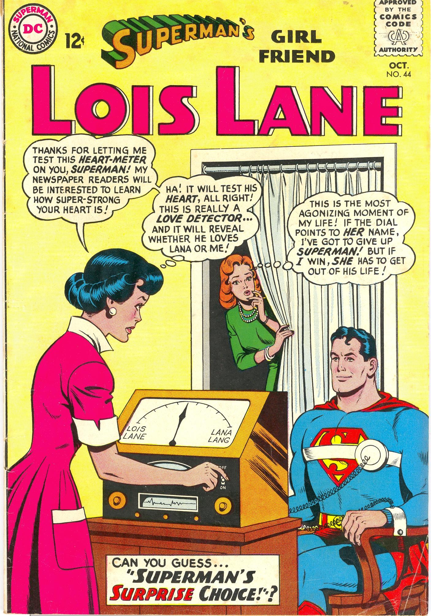 Lois Lane wielding a love meter