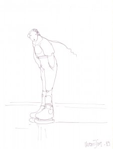 My Moebius sketch from his Silver Snail visit