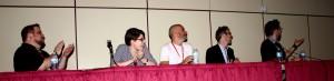 Marvel: Fear Itself - Left to Right, C.B. Cebulski, Jeanine Schaeffer, Axel Alfonso, Stuart Immonen, and Matt Fraction.