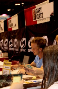 Harry Potter's Tom Felton meet's and greet's fans.