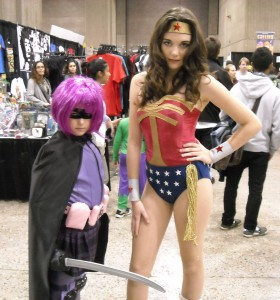 Hit-Girl and Wonder Woman