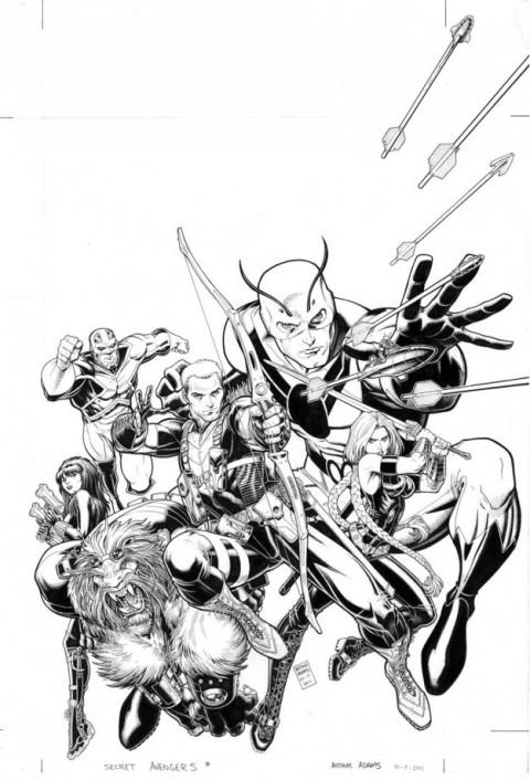 Art Adams Secret Avengers cover