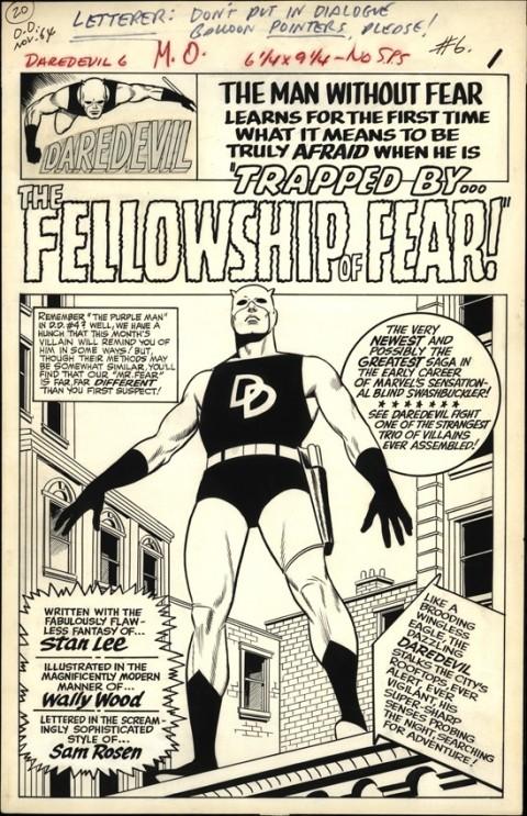 Daredevil 6 splash by Wally Wood