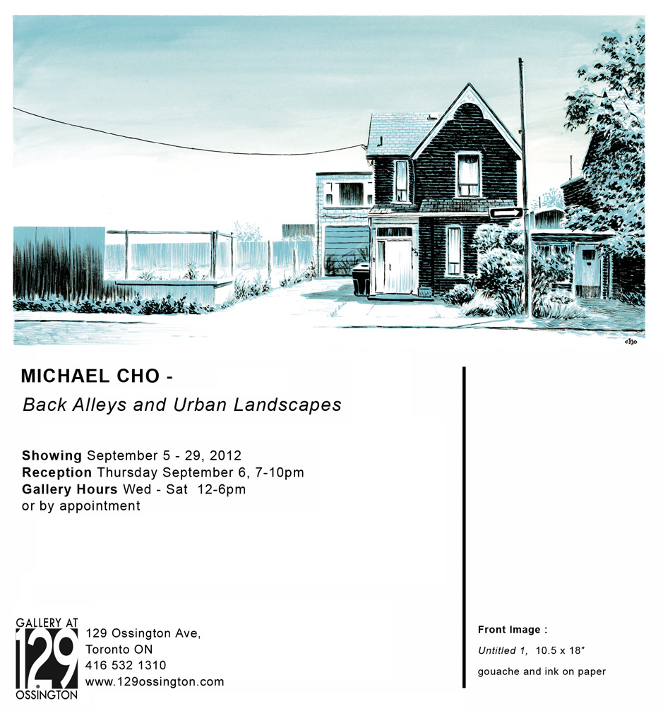 Michael Cho: Back Alleys and Urban Landscapes