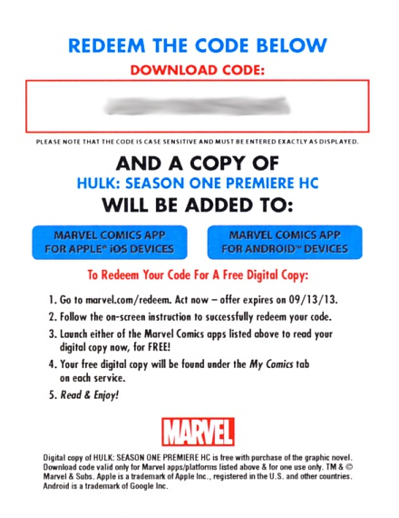 Marvel Digital Codes: Used Or Abused
