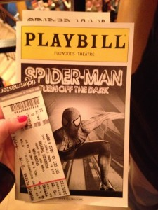 Spider-man Turn off the Dark Play Bill