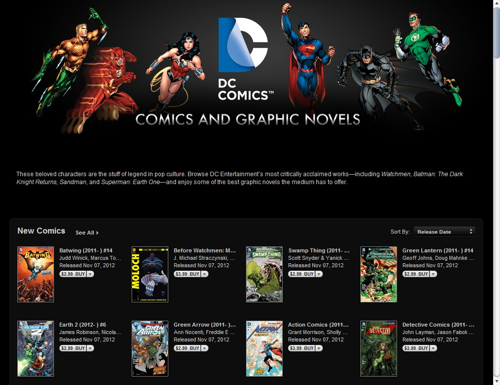 DC Offers Single Issues Across Digital Landscape