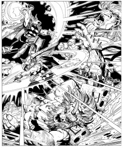 Beta Ray Bill and Thor by Walt Simonson.  Source.