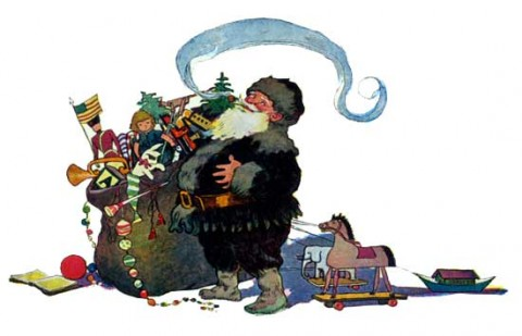 Santa 2 by Jessie Wilcox Smith