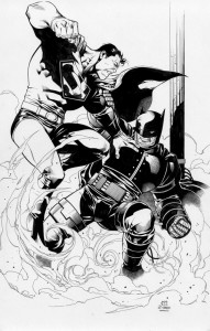 Superman vs Dark Knight Batman by Jim Cheung.  Source.