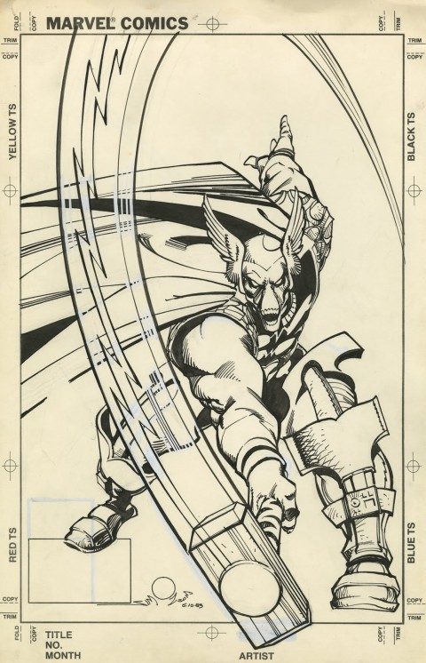 Thor issue 337 cover by Walt Simonson.  Source.