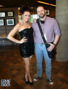Ed Campbell meeting Maria Kanellis at CanToyCon Jan 2013