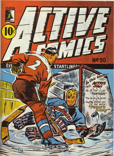 One of the few hockey covers in comics.