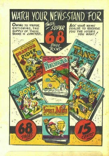 Wow Comics No. 28 back cover