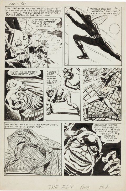 Adventures Of The Fly issue 1 page six by Jack Kirby and Joe Simon