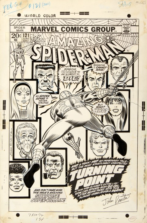 Amazing Spider-Man issue 121 cover by John Romita Sr