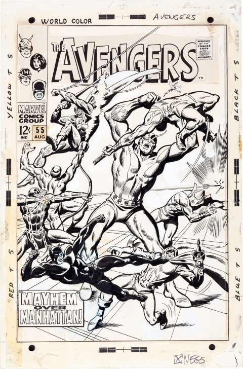 Avengers issue 55 cover by John Buscema and George Russos