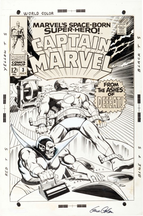 Captain Marvel issue 3 cover by Gene Colan and Vince Colletta