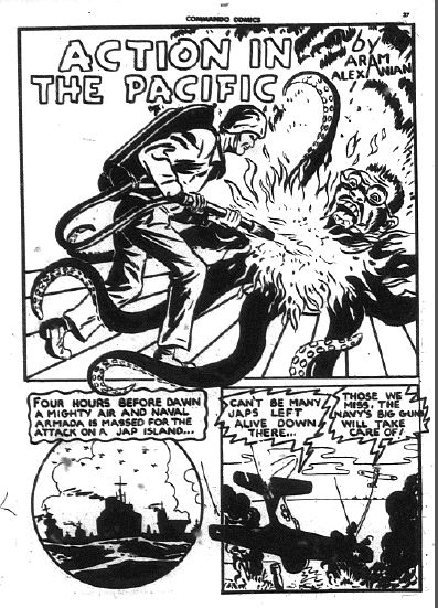 Splash page from Commando Comics 14