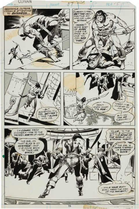 Conan The Barbarian issue 87 page 15 by Ton DeZuniga