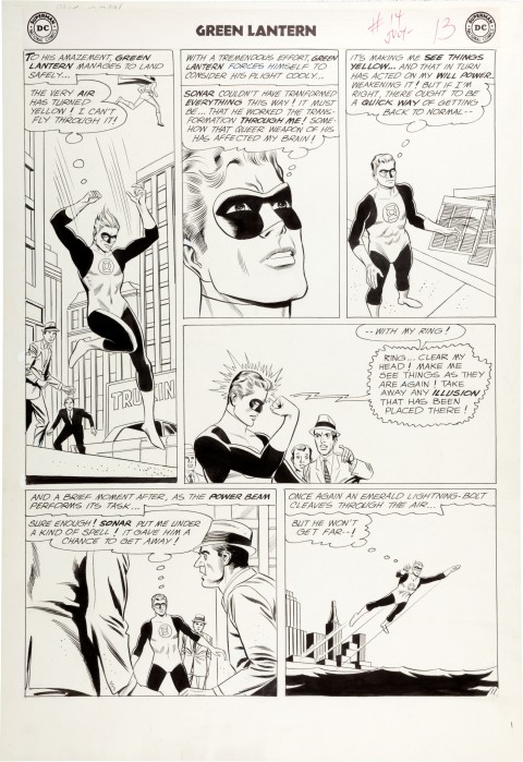 Green Lantern issue 14 page 11 by Gil Kane and Joe Giella