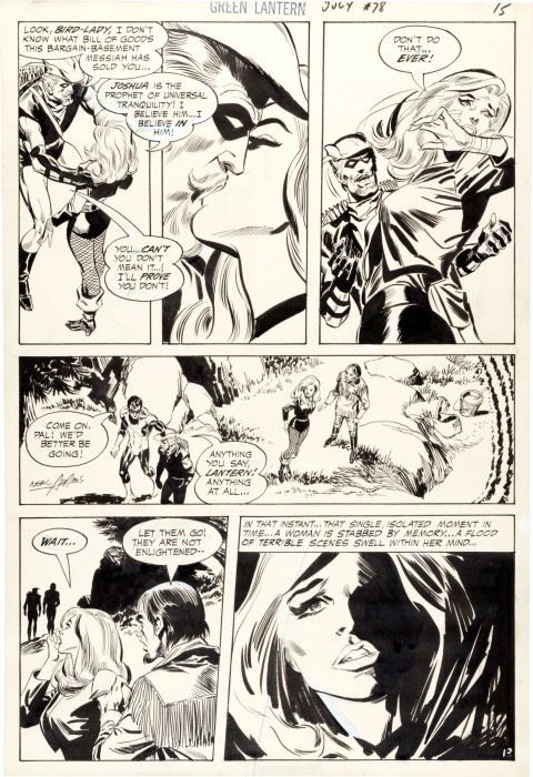 Green Lantern issue 78 page 13 by Neal Adams and Frank Giacoia