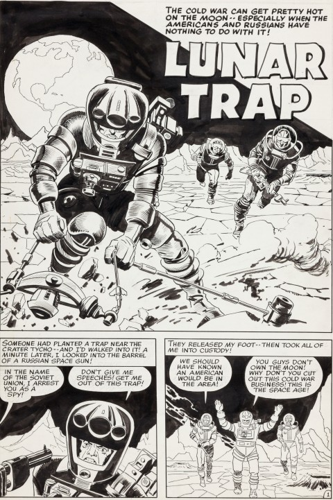 Race To The Moon issue 2 Lunar Trap page 1 by Jack Kirby and Al Williamson