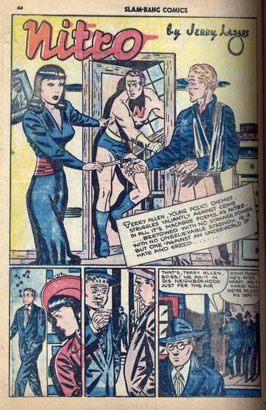 Splash Page for Nitro story in Slam-Bang Comics No. 7
