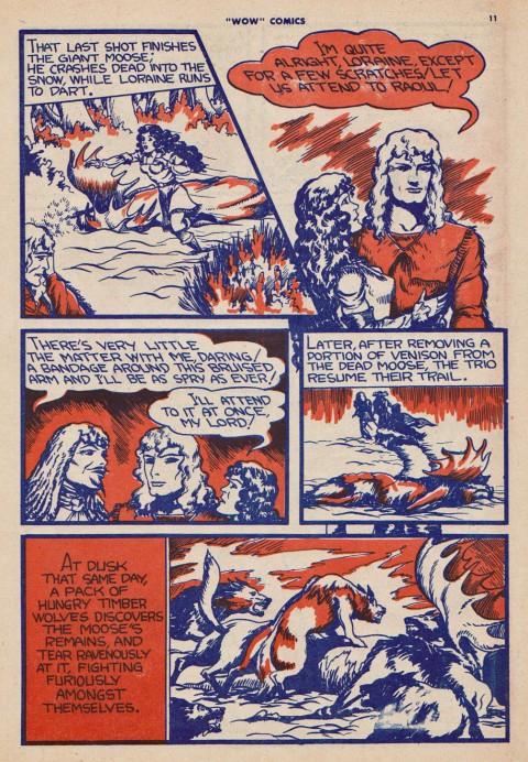 Dark blue and orange scheme of Wow Comics No. 8 page 11