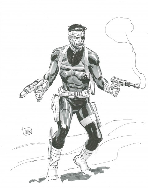 2013 Sketch Nick Fury by Lee Weeks