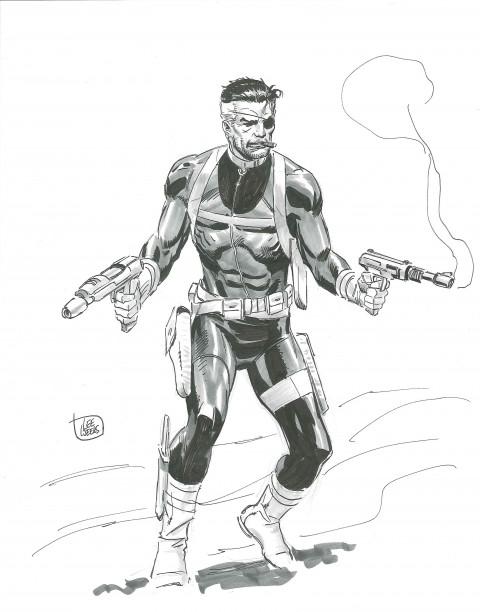 2013 Sketch Nick Fury by Lee Weeks