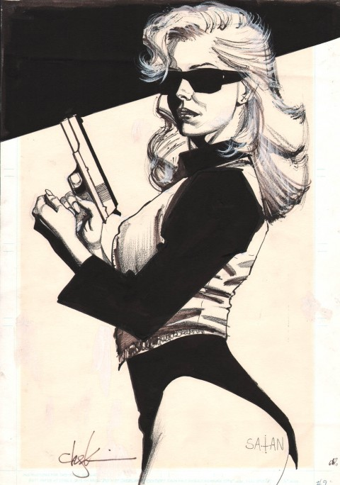 Black Kiss issue 9 cover by Howard Chaykin