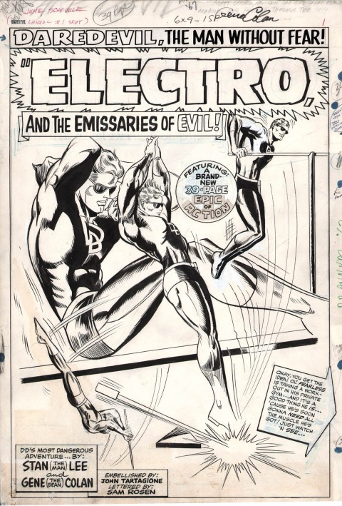 Daredevil annual issue 1 splash by Gene Colan and John Tartaglione