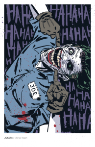 Michael Walsh print of Joker (photo courtesy of Michael Walsh Twitter)