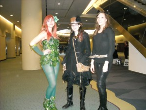 Poison Ivy, Steampunk and Catwoman