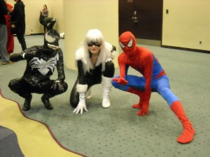 Venom, Black Cat and Spider-man