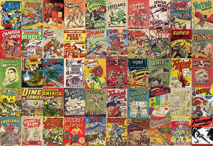 WECA comics collage