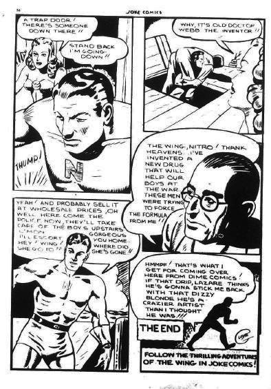 Joke Comics 17, p. 56 with last panel Lazare signature