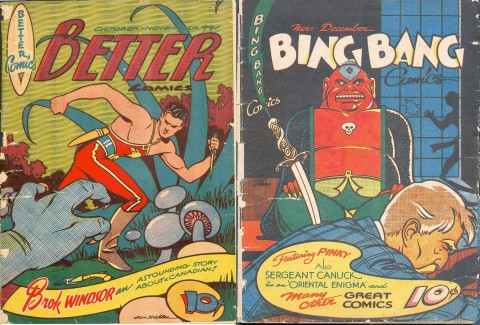Better Comics Vol. 3 No. 6 and Bing Bang Comics Vol 2 No. 9