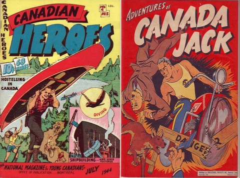 Canadian Heroes Vol. 4 No. 2 and Canada Jack one-shot