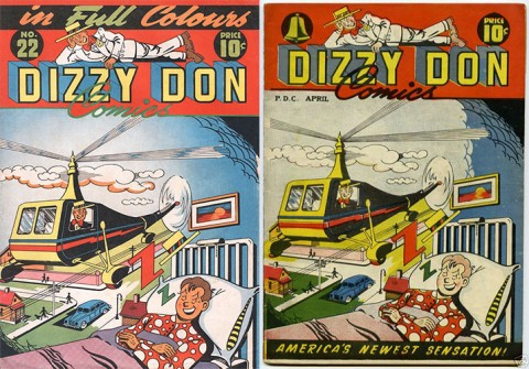 Dizzy Don 22 Canadian issue and Dizzy Don 3 F. E. Howard American issue